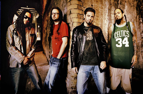 The band Korn - 3 members with dreadlocks!